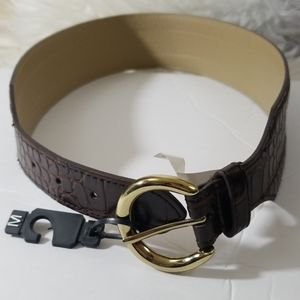 🦚 NEW THE LIMITED Brown Croc Pattern Belt Size M